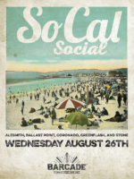 SoCal Social — August 26th, 2015 at Barcade® in New York, NY at St. Mark's Place