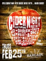 Cider Night — February 25, 2016 at Barcade® in New York, New York at St. Mark's Place