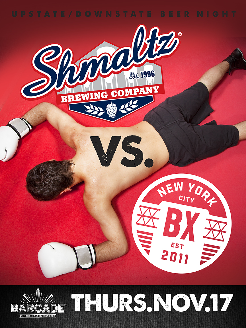 Upstate/Downstate Beer Night: Shmaltz v. Bronx!!!