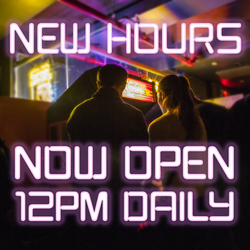 Open Daily at Noon Starting 3/8 !