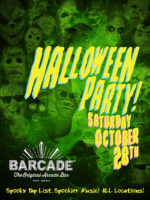 Barcade Halloween Party — October 28, 2017 at Barcade® at St. Mark's Place in New York, NY | Spooky Tap List and music play list
