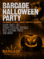Barcade Halloween Party! on Saturday, October 31st at Barcade® at St. Mark's Place in New York, New York