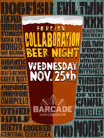 Foreign Collaboration Beer Night — November 25, 2015 at Barcade® at St. Mark's Place in New York, New York