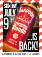 Harpoon Sriracha Blonde Exclusive Barcade® Beer Release — July 9, 2017 at Barcade® at St. Mark's Place in New York, NY (Only Available at Barcade Locations)