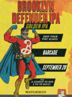 Brooklyn Defender Pint Night — September 28, 2017 at Barcade® at St. Mark's Place in New York, NY