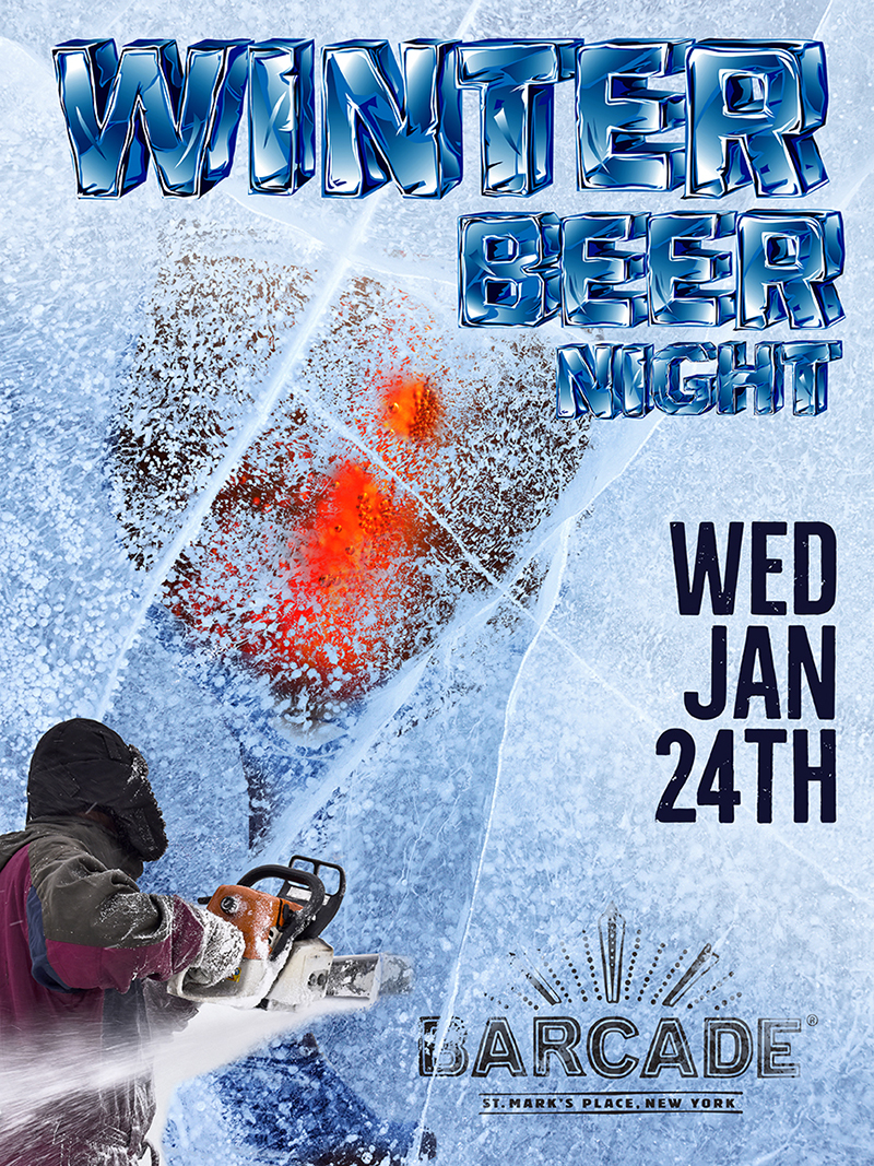 Winter Beer Night — January 24, 2018 at Barcade® at St. Mark's Place in New York, NY