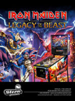 Iron Maiden: The Legacy of the Beast (pinball) — 2018 at Barcade® at St. Mark's Place in New York, New York | arcade game flyer graphic
