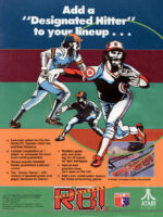 R.B.I. Baseball —1987 at Barcade® in New York, NY   arcade video game flyer graphic