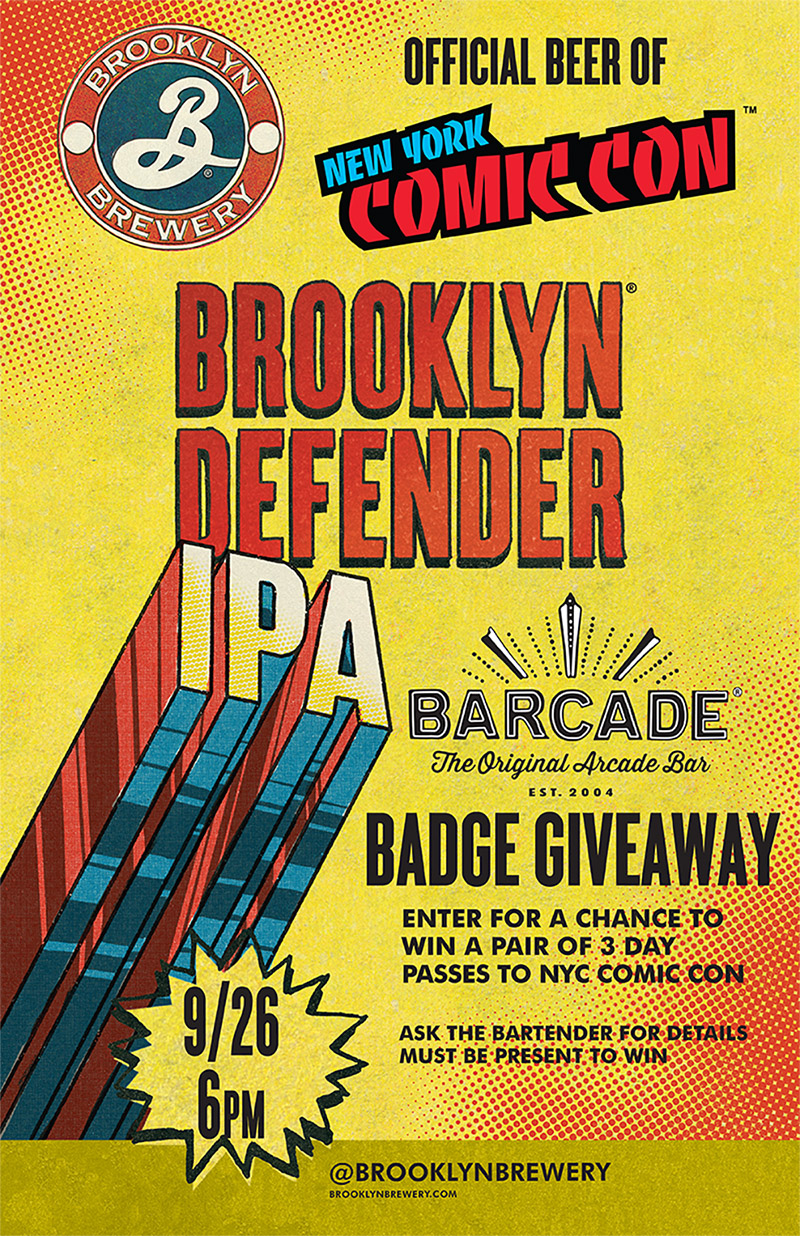 Brooklyn Defender Pint Night — September 26, 2018 at Barcade St. Marks in New York, NY