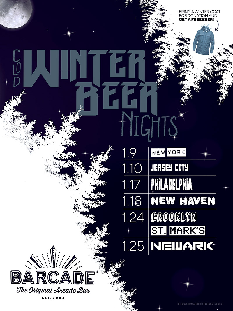 Winter Beer Night - January 24, 2019 at Barcade® at St. Mark's Place in New York, NY