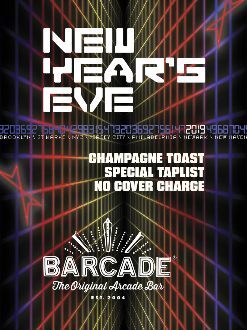 New Year's Eve Party—Monday, December 31st at Barcade in New York, NY