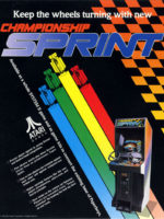 at Barcade® at St. Mark's Place in New York, NY | arcade video game flyer graphicChampion Sprint — 1986