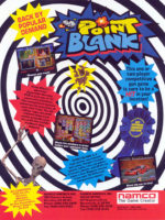 Point Blank — 1994 at Barcade® at St. Mark's Place in New York, New York | arcade game flyer graphic