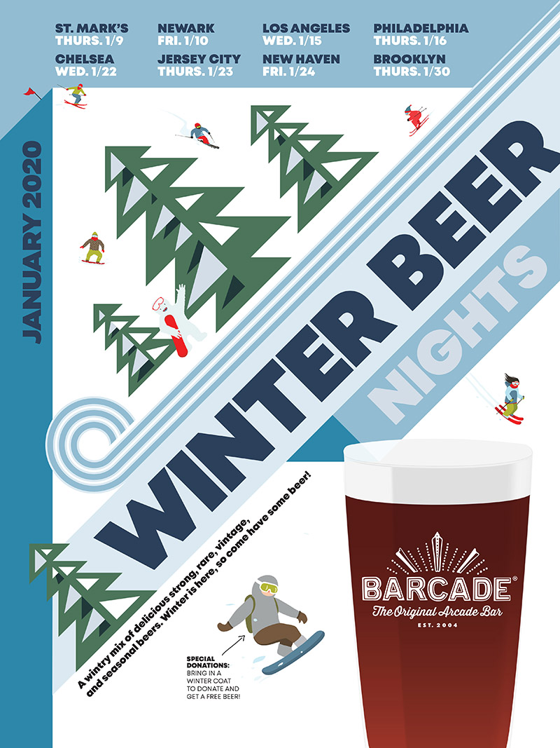 Barcade® Winter Beer Night – January 9, 2020 at St. Mark's Place in New York, New York