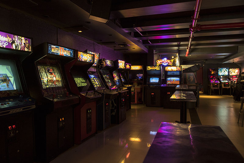 Barcade® St. Mark's interior photo arcade games