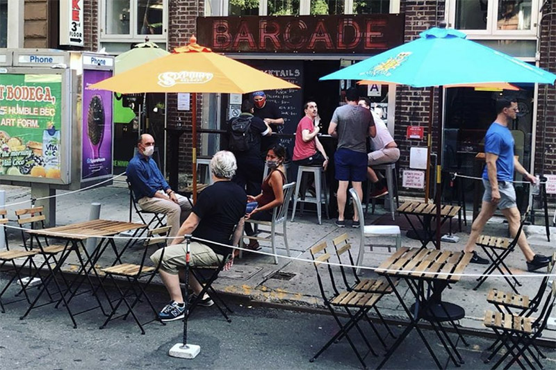 Barcade® St. Marks Outdoor Seating Area