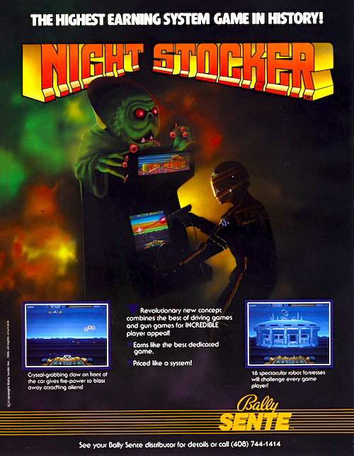 Night Stocker — 1986 at Barcade® at St. Mark's Place in New York, NY | arcade video game flyer graphic