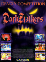DarkStalkers: The Night Warriors — 1994 at Barcade® at St. Mark's Place in New York, NY   arcade video game flyer graphic